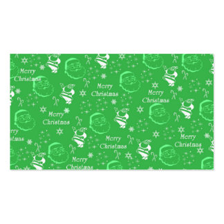 Festive Green Jolly Father Christmas Business Cards