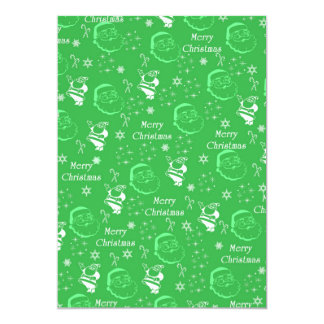 Festive Green Jolly Father Christmas Personalized Invites