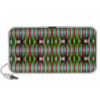 Festive Green Pattern Design Notebook Speaker