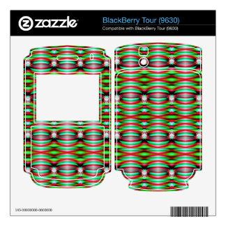Festive Green Pattern Design BlackBerry Tour Skin