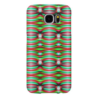 Festive Green Red Pattern Samsung Galaxy S6 Case