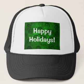 Festive Green Spirals Trucker Hat