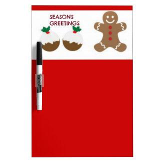 Festive Greetings Art Dry-Erase Board