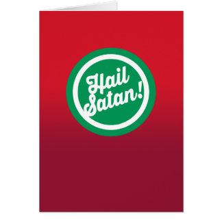 Festive Hail Satan Card