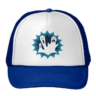 Festive Halloween Ghosts Trucker Hat