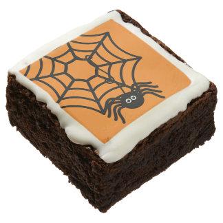 Festive Halloween Spider Brownies Square Brownie