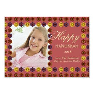 Festive Hanukkah Photo Holiday Card