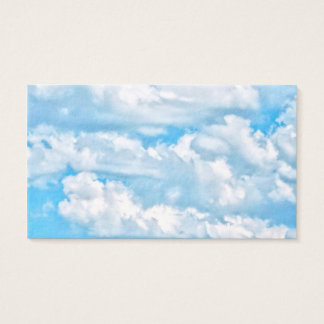 Festive Happy Sunny Clouds Background Business Card