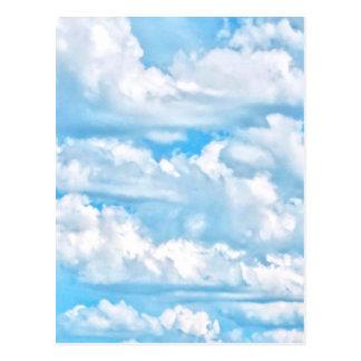 Festive Happy Sunny Clouds Background Postcard