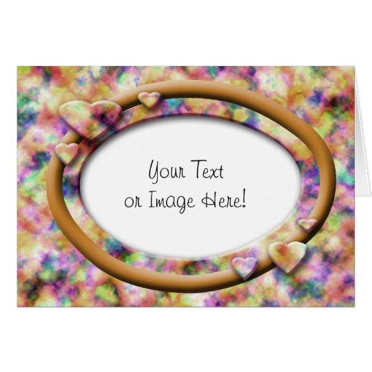 Festive Heart Frame: Golden Ring Card