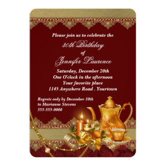 Festive Holiday Birthday 5x7 Paper Invitation Card
