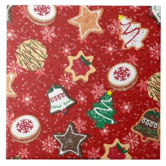 Festive Holiday Chistmas Cookies Print Tile