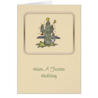 Festive Holiday Christmas Card