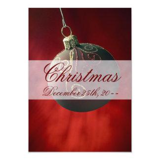 "Festive Holiday Christmas Decoration Invitations 5"" X 7"" Invitation Card"