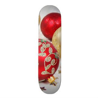 Festive Holiday Christmas Ornaments Background Custom Skate Board