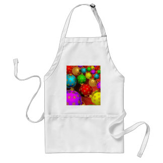 Festive Holiday Christmas Tree Ornaments Design Adult Apron