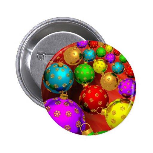Festive Holiday Christmas Tree Ornaments Design Pins