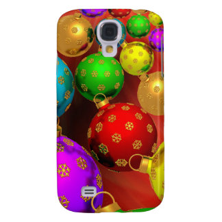 Festive Holiday Christmas Tree Ornaments Design Samsung Galaxy S4 Case