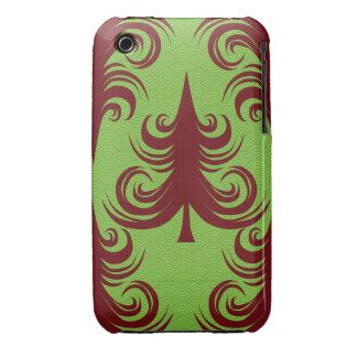Festive Holiday Christmas Tree Xmas Design iPhone 3 Case