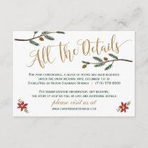 Festive Holiday Christmas Wedding Detail Card