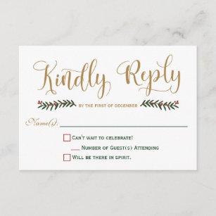 christmas rsvp invitations stationery zazzle