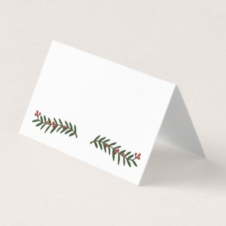 Festive Holiday Christmas Wedding Place Card