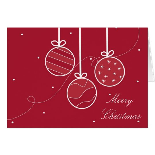 Festive Holiday Decorations Card