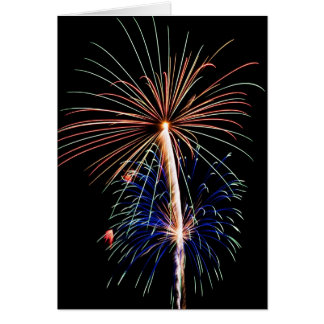 Festive Holiday Fireworks-cardcopy Card
