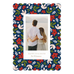 Festive Holiday Floral Card