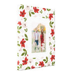 Festive Holiday Floral in White Canvas Print