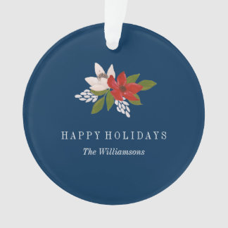 Festive Holiday Floral Ornament