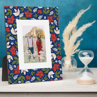 Festive Holiday Floral Plaque