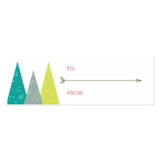 Festive Holiday Forest Gift Tags Double-Sided Mini Business Cards (Pack Of 20)