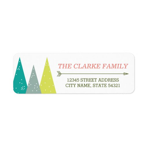 Festive Holiday Forest Return Address Labels