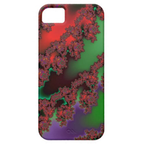 Festive Holiday Fractal Skins iPhone 5 Cases