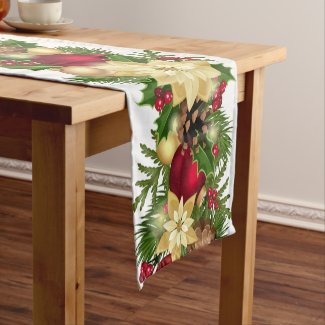 Festive Holiday Garland Table Runner