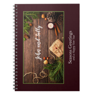 Festive Holiday Gift Photo Frame Personalize Notebook