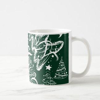 Festive Holiday Green Christmas Trees Xmas Coffee Mug