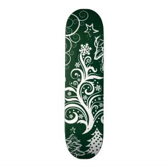 Festive Holiday Green Christmas Trees Xmas Skateboards