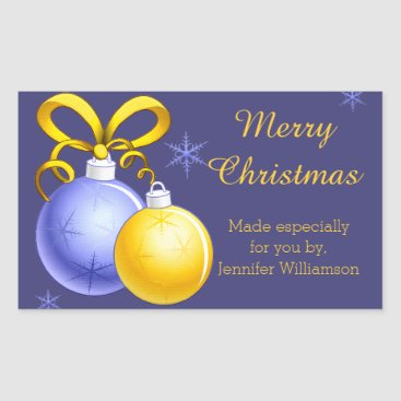 Christmas Themed Festive Holiday Home Made Label Sticker