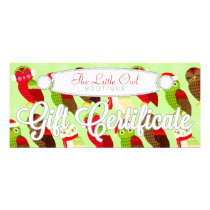 Festive Holiday Owls - Custom Gift Certificate
