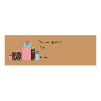 Festive Holiday Packages Gift Tags Business Card Templates