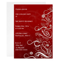 festive  Holiday Party Invitations
