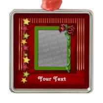 festive holiday photo ornament