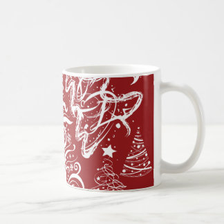 Festive Holiday Red Christmas Tree Xmas Pattern Coffee Mug