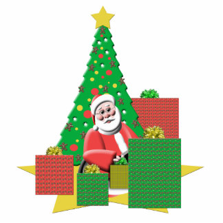 Festive Holiday Santa Claus Statuette