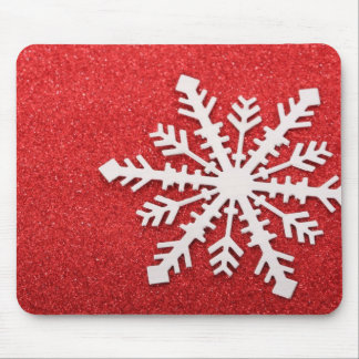 Festive Holiday Snow Mouse Pad