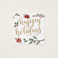 Festive Holiday Wedding Invitation Name Plate Card
