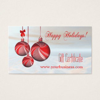 Holiday Certificate Template Gifts on Zazzle