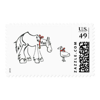 Festive Horse and Duck Stamp